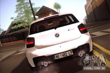 BMW M135i para GTA San Andreas vista direita