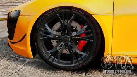 Audi R8 GT Spyder para GTA 4 vista de volta