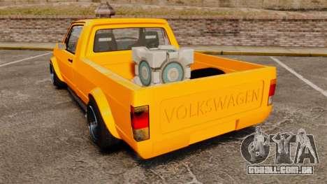 Volkswagen Caddy para GTA 4 traseira esquerda vista