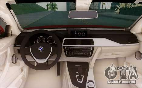 BMW 435i para GTA San Andreas vista interior