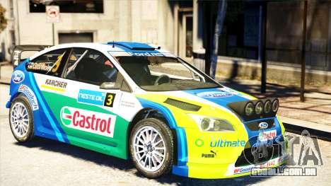 Ford Focus RS M Gronholm Rally Finland WRC para GTA 4 traseira esquerda vista