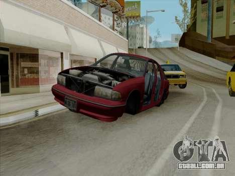 Chevrolet Caprice 1991 para GTA San Andreas interior