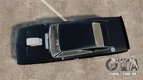 Dodge Charger 1969 para GTA 4 vista direita