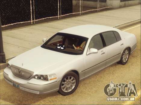 Lincoln Town Car 2010 para GTA San Andreas vista interior