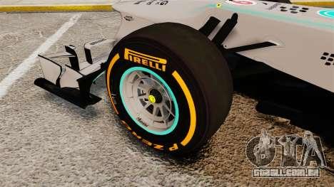 Mercedes AMG F1 W04 v3 para GTA 4 vista de volta