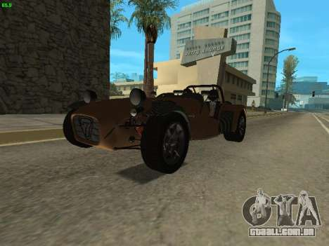 Caterham 7 Superlight R500 para GTA San Andreas vista direita