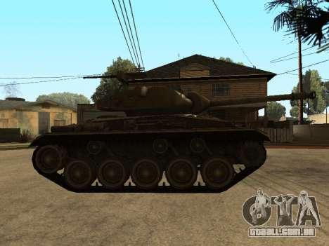 M24-Chaffee para GTA San Andreas traseira esquerda vista