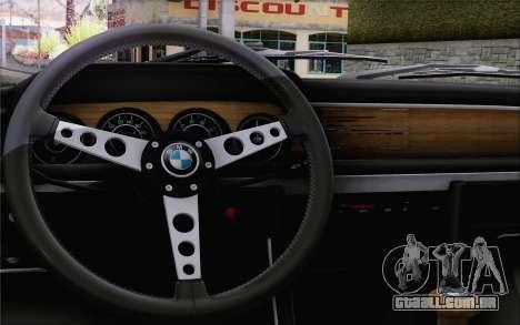 BMW 30 CSL 1971 para GTA San Andreas vista traseira