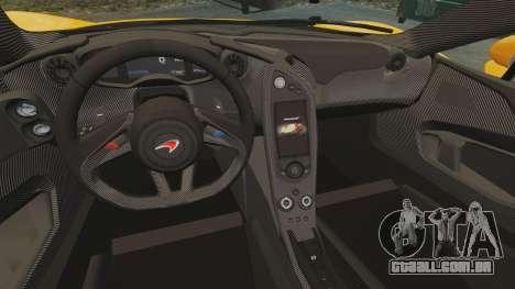 McLaren P1 2014 [EPM] para GTA 4 vista interior