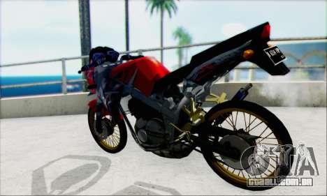 Kawasaki 150L Ninja Series para GTA San Andreas esquerda vista