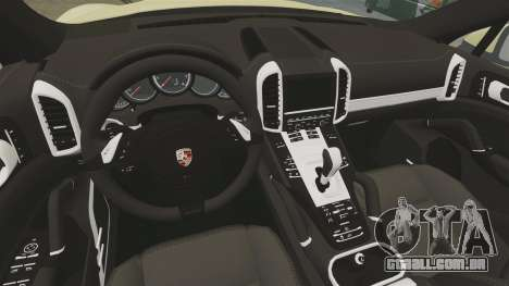 Porsche Cayenne 2012 SR para GTA 4 vista interior