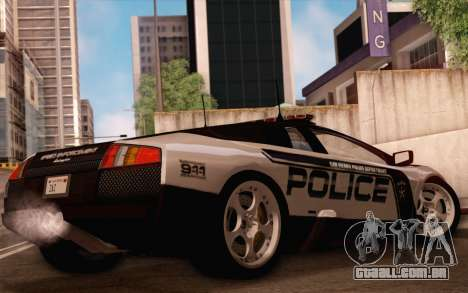 Lamborghini Murciélago polícia 2005 para GTA San Andreas vista superior