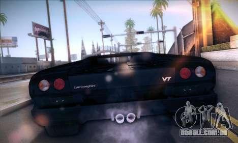 Lamborghini Diablo VT6.0 para GTA San Andreas traseira esquerda vista
