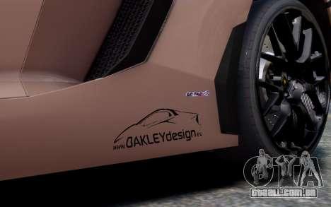 Lamborghini Aventador LP760-4 Oakley Design para GTA 4 vista lateral