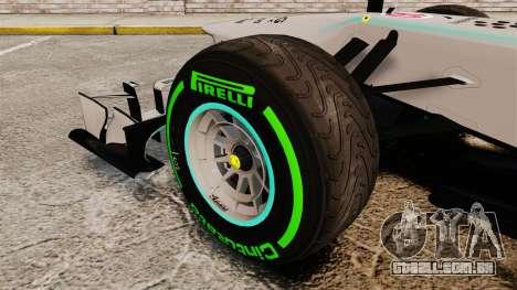 Mercedes AMG F1 W04 v4 para GTA 4 vista de volta