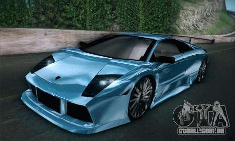 Lamborghini Murcielago GT Coloured para GTA San Andreas traseira esquerda vista