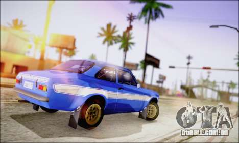 Ford Escort Mk1 RS1600 para GTA San Andreas vista direita
