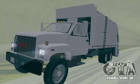 GMC C550 Topkick Trashmaster para GTA San Andreas vista traseira