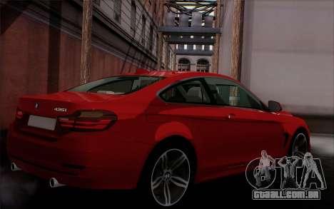 BMW 435i para GTA San Andreas esquerda vista