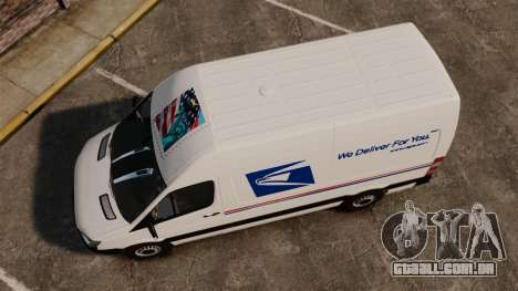 Mercedes-Benz Sprinter US Mail para GTA 4 vista direita