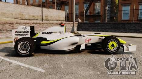 Brawn BGP 001 2009 para GTA 4 esquerda vista