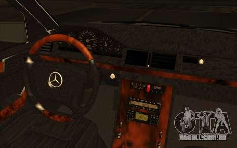 Mercedes-Benz E420 v2.0 para GTA San Andreas vista traseira