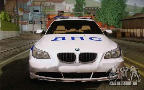 BMW 530xd DPS para GTA San Andreas esquerda vista