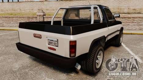 Declasse Rancher 1998 para GTA 4 traseira esquerda vista