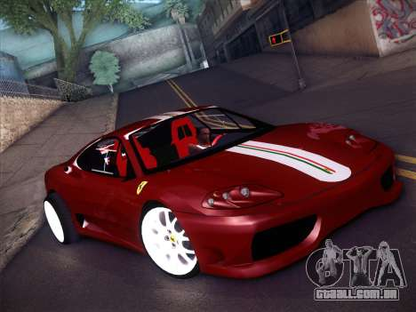 Ferrari 360 Challenge Stradale para GTA San Andreas esquerda vista