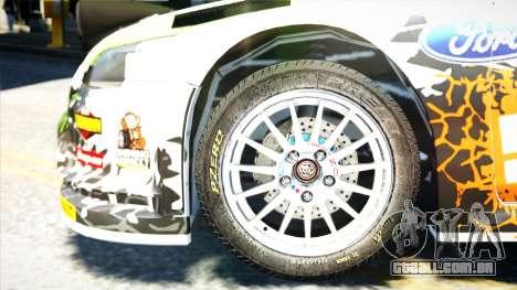 Ford Focus RS Monster World Rally Team WRC para GTA 4 vista direita