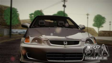 Honda Civic Si 1999 Coupe para GTA San Andreas vista interior