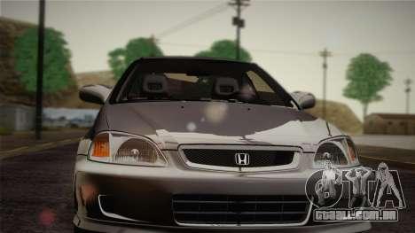 Honda Civic Si 1999 Coupe para GTA San Andreas vista interior