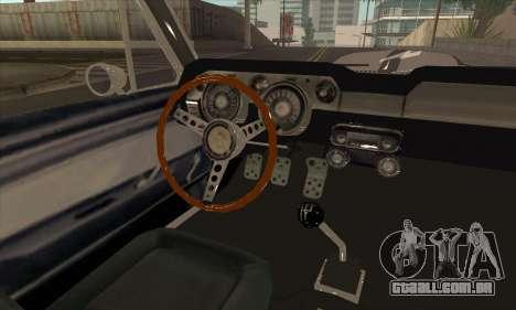 Shelby GT500 E v2.0 para GTA San Andreas vista traseira