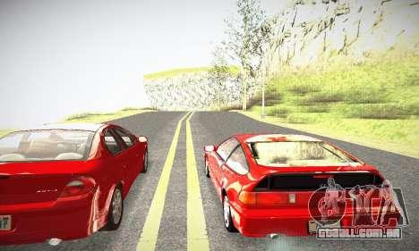 Honda CRX - Stock para GTA San Andreas vista direita