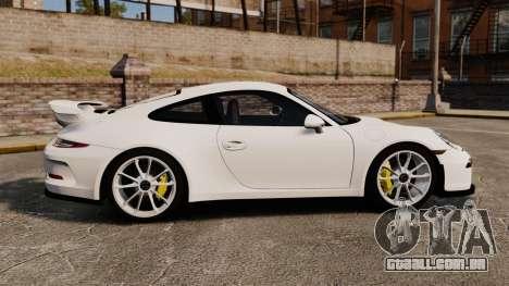 Porsche 911 GT3 (991) 2013 para GTA 4 esquerda vista