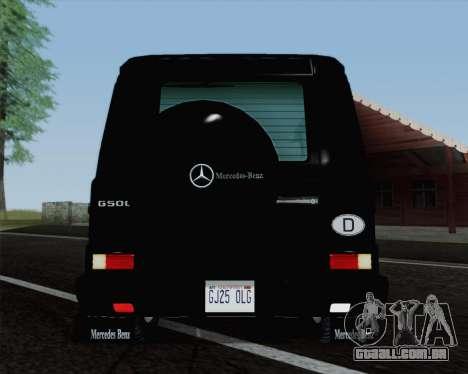 Mercedes-Benz G500 1999 Short para GTA San Andreas vista traseira