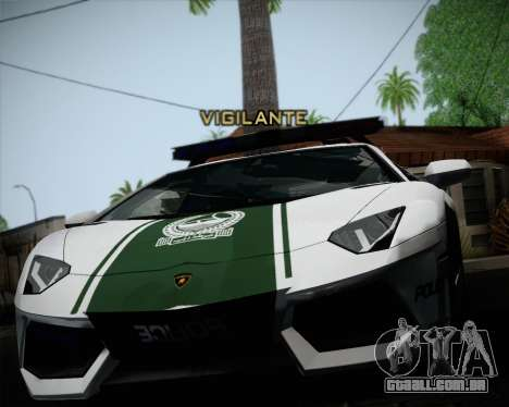 Lamborghini Aventador LP700-4 2012 RCPD V1.0 para GTA San Andreas vista direita