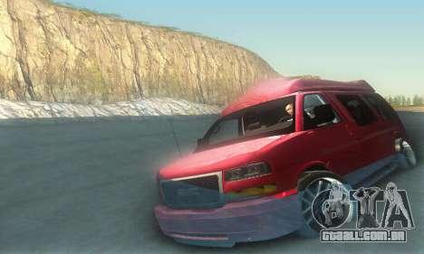 GMC Savana para GTA San Andreas interior