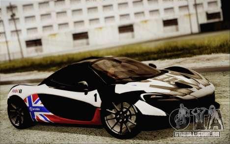 McLaren P1 2014 v2 para GTA San Andreas vista interior