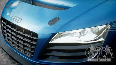 Audi R8 LMS para GTA 4 vista inferior