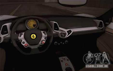 Ferrari 458 Italia Liberty Walk LB Performance para GTA San Andreas vista direita