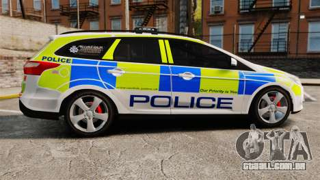 Ford Focus Estate Norfolk Constabulary [ELS] para GTA 4 esquerda vista