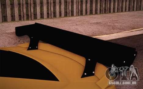 Chevrolet Camaro ZL1 para GTA San Andreas vista superior