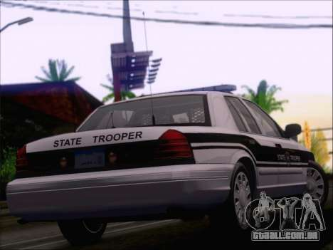Ford Crown Victoria San Andreas State Trooper para GTA San Andreas vista inferior