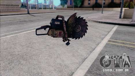 Motosserra de Silent Hill Home vinda para GTA San Andreas segunda tela