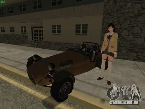 Caterham 7 Superlight R500 para GTA San Andreas vista traseira