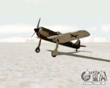 Focke-Wulf FW-190 A5 para GTA San Andreas esquerda vista