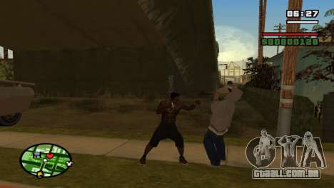 Brass Knuckles para GTA San Andreas por diante tela