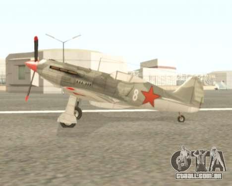 MIG-3 para GTA San Andreas traseira esquerda vista