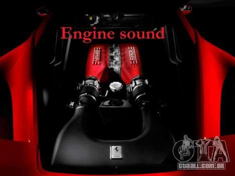 Som de um motor de Ferrari para GTA 4